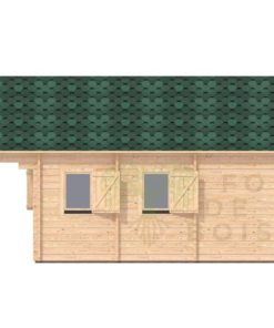 Maison de jardin Turin 4.5m x 6m; 44 mm_right