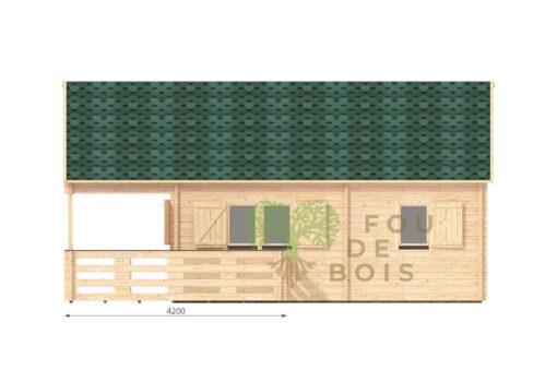 Le chalet Gustav A 6m x 6m; 68mm_right