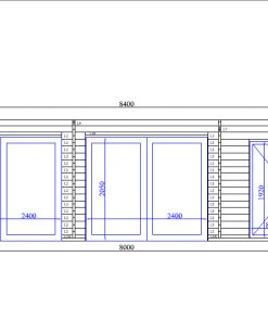 Double garage Favori 5.7m x 7.7m; (43.7 m²)